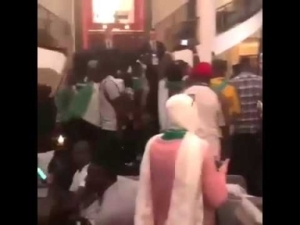 Video: Super Eagles Shocked By Fans At Their Hotel After Their Hotel Address Was Leaked